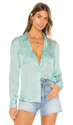 Young Fabulous And Broke Belle Top In Blue. Aqua