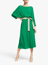 Marella Gerard Dolamin Sleeve Belted Dress Emerald Green
