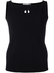 D.Exterior Square Neck Top Black