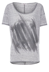 Bloom Print Tshirt Grey