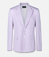 Christopher Kane Single Breasted Tailored Jacket Pink And Purple