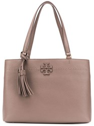 Tory Burch Mcgraw Triple Compartment Bag Grey