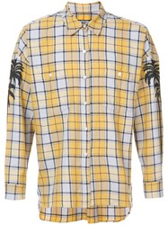 Adaptation Oversized Palm Shirt Men Cotton M Yellow Orange