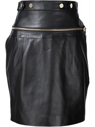 Alexandre Vauthier High Waisted Zip Detail Skirt Black