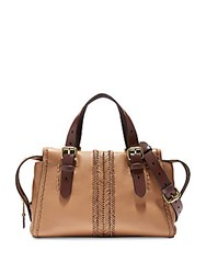 Cole Haan Loralie Whipstitch Leather Satchel Camel