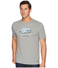 Life Is Good Beach Vista Crusher T Shirt Heather Gray T Shirt