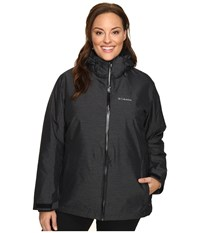 Columbia Plus Size Whirlibird Interchange Jacket Black Crossdye Women's Coat