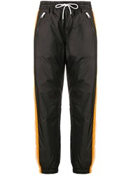 Kenzo Black And Orange Track Trousers