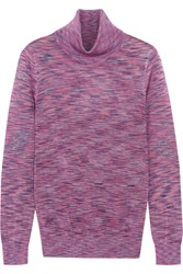 Raoul Jacquard Knit Turtleneck Sweater Purple