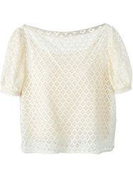 See By Chloe Macrame Lace T Shirt