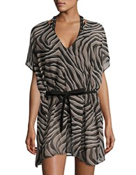 Michael Kors Printed Cover Up Tunic Black