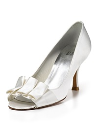 Stuart Weitzman Open Toe Evening Pumps Gigiritz White