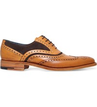 Barker Mcclean Leather And Suede Oxford Brogue Tan Comb