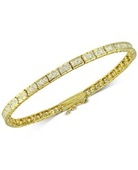 Giani Bernini Cubic Zirconia Square Tennis Bracelet In 18K Gold Plated Sterling Silver Only At Macy's