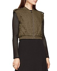 Bcbgmaxazria Ace Quilted Vest Dusty Olive