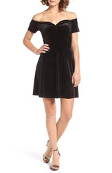 One Clothing Women's Off The Shoulder Fit And Flare Dress