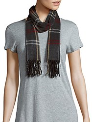 Cejon Check Fringed Scarf Red