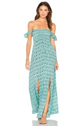 Tiare Hawaii Hollie Off The Shoulder Maxi Turquoise