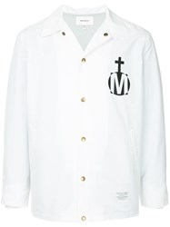 Makavelic Logo Coach Jacket White