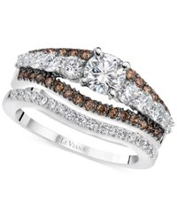 Le Vian Chocolatier Diamond Bridal Set 1 5 8 Ct. T.W. In 14K White Gold