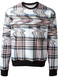 Ground Zero Plaid Print Sweatshirt White