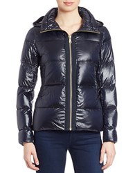 Vince Camuto Down Puffer Jacket Navy Blue