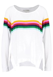 True Religion Rainbow Relaxed Long Sleeved Top White