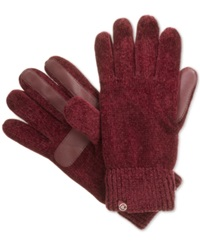 Isotoner Signature Chenille Knit Palm Tech Touch Gloves Sienna