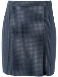 A.P.C. Polka Dot Print Skirt Blue
