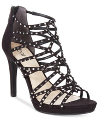 Bar Iii Brooke Embellished Sandals Only At Macy's Women's Shoes Black