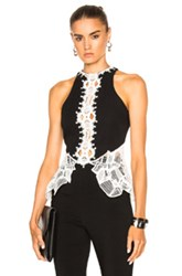 Jonathan Simkhai Fwrd Exclusive Lace Peplum Top In Black