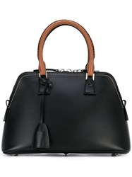 Maison Martin Margiela Contrast Handle Tote Women Calf Leather One Size Black