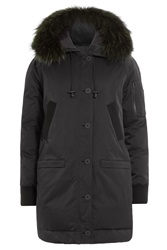 Kenzo Down Parka With Fur Trimmed Hood Black