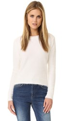Anine Bing Fuzzy Sweater White