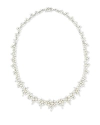 Lagrange 18K White Gold Pearl And Diamond Necklace Paul Morelli