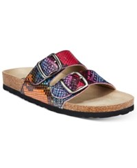 White Mountain Helga Footbed Sandals Women's Shoes Rainbow