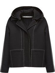 Paco Rabanne Short Wool Parka Black