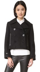 Mcq By Alexander Mcqueen Cropped Peacoat
