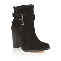Ravel Silverton Ankle Boots Black Suede