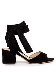 Gianvito Rossi Ankle Tie Suede Sandals Black