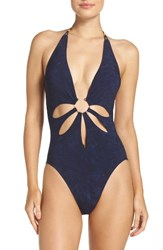 Robin Piccone Women's Plunge One Piece Swimsuit