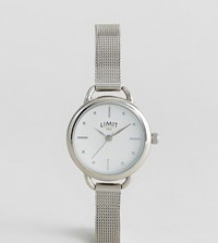 Limit Mesh Watch In Silver Exclusive To Asos