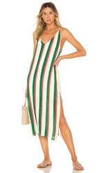 Line And Dot Olympia Dress In Green. Multi