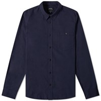 A.P.C. Chicago Flannel Shirt Blue