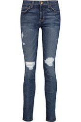 Current Elliott The Ankle Mid Rise Skinny Jeans Mid Denim