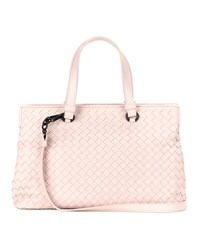 Bottega Veneta Intrecciato Leather Tote Pink