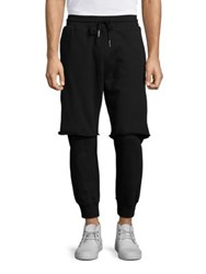 Diesel Vicente Layered Sweatpants Black