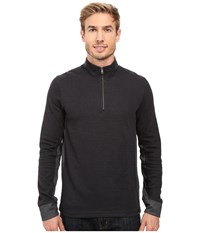 Prana Irwin 1 4 Zip Black Men's Long Sleeve Pullover