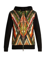 Balmain Inca Print Zip Through Hooded Sweatshirt Multi