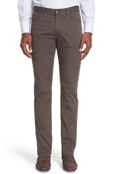 Canali Men's Five Pocket Stretch Twill Pants Brown